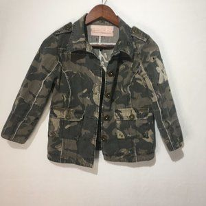 Miss Me Camo Jacket With Cross Embroidery On Back
